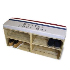 Schuhschrank Braun mit Sitzkissen