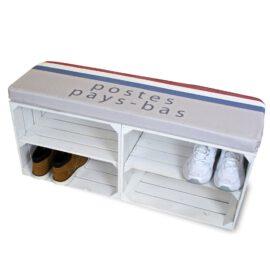 Schuhschrank weiß mit Sitzkissen