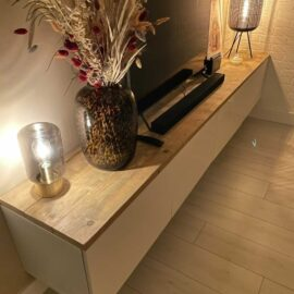 IKEA Besta Deckplatte - Gerüstholz - Alter Look