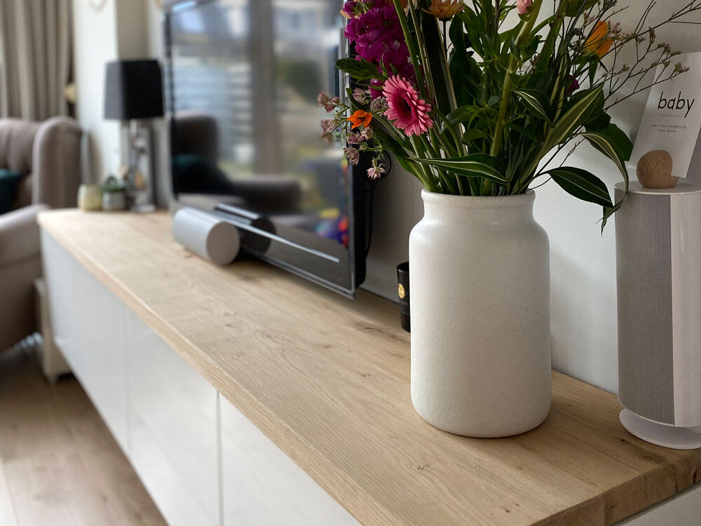 IKEA Besta Abdeckplatte - Eiche - Rustikal